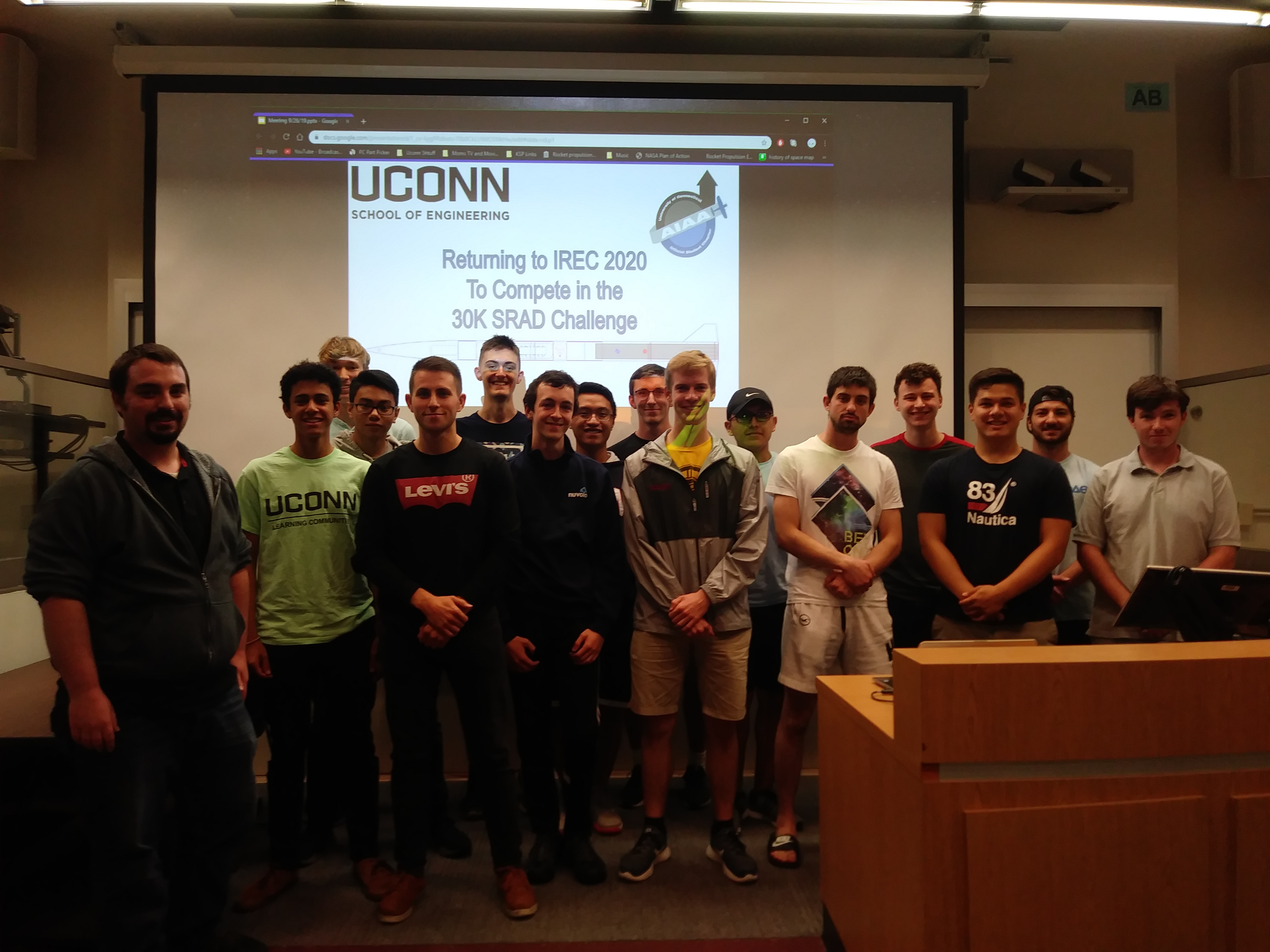 UCONN AIAA rocketry team kicks off the new year with a new project.